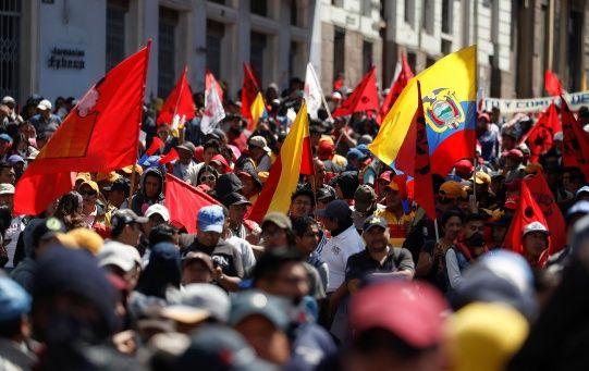 Protesta nacional en Ecuador en rechazo a la reforma económica de Lenín Moreno