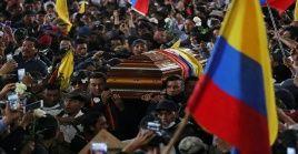 Movimientos indígenas rindieron homenaje a dos de sus miembros que murieron durante las protestas.