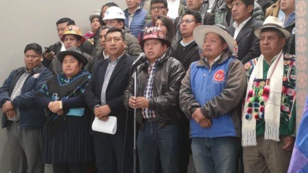 Sindicatos bolivianos se movilizarán en defensa del voto que dio la victoria a Evo Morales