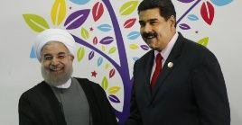 Este encuentro entre Maduro (d) y Rohaní (i) se desarrolló como antesala a la XVIII Cumbre de jefes de Estado y de Gobierno.
