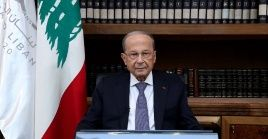 """Con respecto a la situación económica, el presidente Michel Aoun afirmó que es resultado del """"despilfarro y la corrupción""""."""