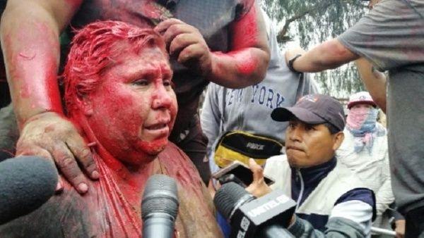 Resultado de imagen para bolivia alcaldesa agredida