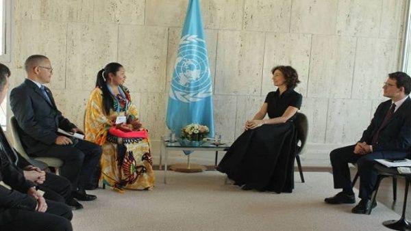 En el marco del evento, las autoridades venezolanas sostuvieron un encuentro con la directora de la Oficina de la Unescoen Quito y representante para Bolivia, Colombia y Ecuador.