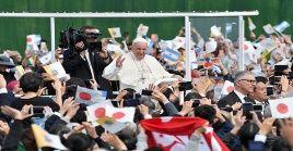 El papa Francisco recordó a las víctimas de la bomba atómica en Nagasaki.