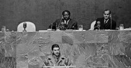 El luchador argentino, que encabezaba la delegación cubana a la ONU como ministro de Industrias, denunció el daño que hace los Estados Unidos (EE.UU.) al querer intervenir arbitrariamente en las decisiones de naciones soberanas.
