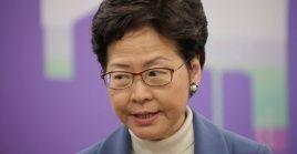 Durante la reunión, el presidente chino Xi escuchó un informe de Lam sobre la situación actual en Hong Kong.