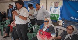 Los asistentes a la actividad manifestaron su apoyo en la lucha contra la dictadura en Bolivia tras el golpe de Estado.