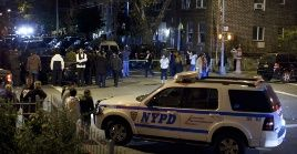 El ataque ocurrió sobre las 22H00 (hora local), cuando los visitantes de la sinagoga de Monsey, condado de Rockland, celebraban Janucá.
