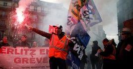 El paro de los trabajadores del ferrocarril y el transporte metropolitano de París no ha sido interrumpido desde su inicio el cincode diciembre pasado.
