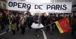 A la huelga contra la reforma de pensiones se ha unido la Ópera de París, una de las más antiguas y prestigiosas del continente.