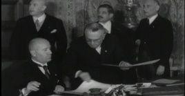 El 7 de enero de 1935 Francia e Italia firmaron un acuerdo bilateral compuesto por ocho documentos que repartía las colonias en África y sentaba las bases de la cooperación frente a Alemania.