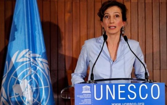 France's Audrey Azoulay, Director-General of the United Nations Educational, Scientific and Cultural Organization (UNESCO) at UNESCO headquarters in Paris, France, October 13, 2017.