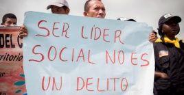 La situación es grave para los líderes sociales en Tumaco, Cauca, Huila, Chocó y Antioquia, allí hay amenazas graves.