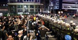 La acción de este jueves fue la tercera manifestación contra el aumento de la tarifa del pasaje del transporte público, luego de que a comienzos de 2020 lo subieran a diez centavos.
