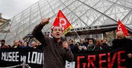 Las protestas iniciaron el pasado 5 de diciembre, sin embargo, es la primera vez que cierran las puertas del Museo del Louvre.