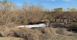 La nave aérea se estrelló en una zona del aeropuerto sur de California, conocido como Corona Aiport.