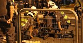 La policía agredió con balas de goma y gases lacrimógenos a los manifestantes brasileños mientras estos celebraban un juego.