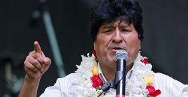 Evo Morales está exiliado como refugiado político en  Argentina, desde el 14 de diciembre.