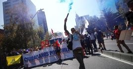 El discurso de rechazo exige la permanencia de la carta magna heredada de la sangrienta dictadura chilena