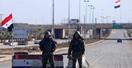 Momentos previos a la reapertura, la gobernación de Alepo, envió equipamiento de ingeniería que contribuyen a la rehabilitación de la carretera.