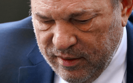 Weinstein arrives at the New York Criminal Court during his ongoing sexual assault trial in the Manhattan borough of New York City, New York, U.S., February 24, 2020.