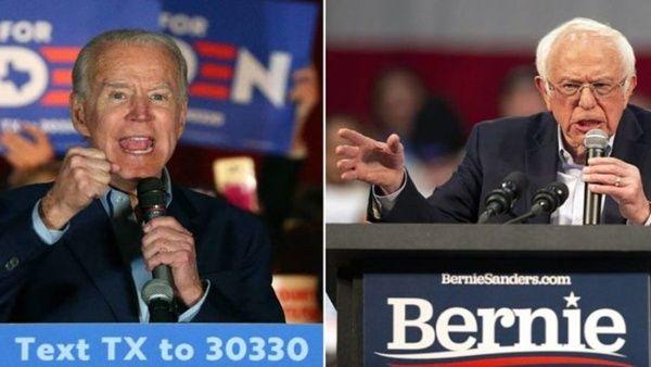 Bernie Sanders y Joe Biden lideran la lucha por la nominación del Partido Demócrata.