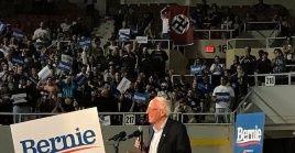 """El símbolo de la esvástica, a juicio de Sanders, representa """"la guerra más devastadora en la historia de la humanidad"""" refiriéndose a la Segunda Guerra Mundial."""
