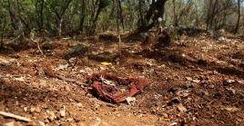 Según las autoridades el área era utilizada por grupos de criminales como un cementerio clandestino.