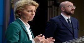 La presidenta de la Comisión Europea, Ursula von der Leyen, explicó que la UE protegerá a sus ciudadanos y sus economías.