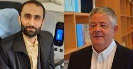 La liberación del ingeniero iraní Yalal Ruholaneyad (izq.) y el ciudadano francés Roland Marchal fue producto de la cooperación entre Irán y Francia.