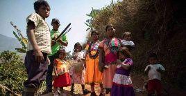 Policía Nacional de Colombia aplica vigilancia las 24 horas a la comunidad Yukpa, que ha sido totalmente aislada.