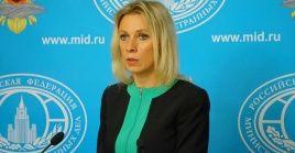 Zajarova aseguró que Rusia seguirá prestando ayuda a Venezuela en su lucha contra el coronavirus.