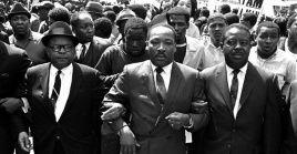 """""""Tenemos que dedicarnos a esta lucha hasta el final"""" mensaje de MartinLuther King a trabajadores en Tennessee, la noche antes de su asesinato."""