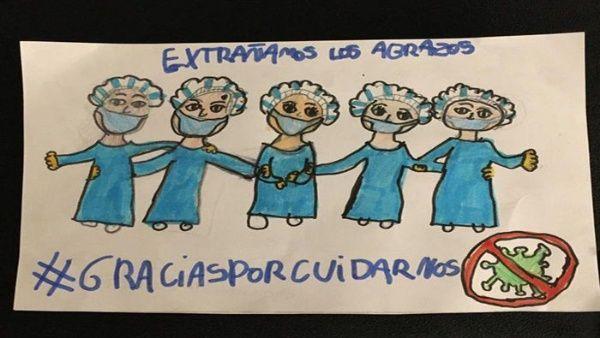 Presidente Alberto Fernández invita a la población a realizar un dibujo por quienes cuidan de la salud en medio de la pandemia por Covid-19.
