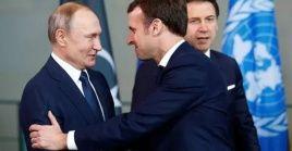 Putin y Macron evalúan las medidas aplicadas para minimizar los efectos del nuevo coronavirus en las economías de sus países.