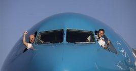 Aviones Airbus 330-200 fueron adaptado para aumentar su capacidad en un 84 por cierto para transportar los equipos médicos chinos desde Shangai hasta Buenos Aires.