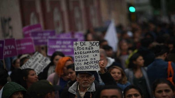 Según el Instituto de Estudios para el Desarrollo y la Paz (Indepaz) durante el 2020 al menos 82 líderes sociales han sido asesinados en Colombia.