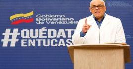 Rodríguez dijo que el Gobierno de Venezuela seguirá trabajando para mantener plana la curva de casos de Covid-19.