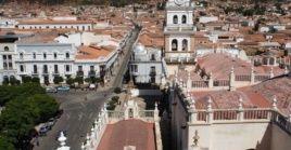 Panorámica de Sucre, ciudad donde tuvo lugar, en 1809, la Revolución de Chuquisaca.