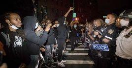 En Nueva York miles de personas han manifestado contra el asesinato de George Floyd.