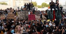 Las masivas protestas contra el asesinato de Floyd llegaron también a Europa