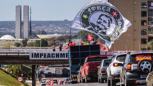 """Los frente políticos que organizaron las protestas definieron el 13 de junio como el """"Día Nacional de la Lucha contra Bolsonaro""""."""