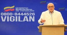 Rodríguez precisó que el país registra un total de 3.591 casos positivos, de ellos 835 recuperados y 2.726 activos.