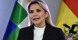 La presidenta de facto, Jeanine Áñez, se ha referido en varios ocasiones a los movimientos sociales como grupos violentos.