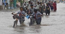 La llegada de los vientos monzónicos a India, regularmente en junio, provocan gran inestabilidad en el clima.