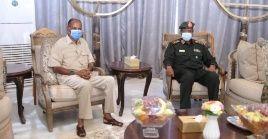 Ambos líderes se encontraron en Jartum, la capital sudanesa,bajo cumplimiento de protocolos sanitarios.