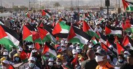 Los palestinos continúan manifestándose de manera pacífica contra el plan de Israel de anexarse zonas de Cisjordania.