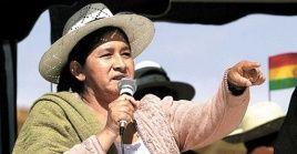 La dirigente indígena quechua fue designada en 2007 como personaje del año por la audiencia de la Red Radiofónica de Bolivia (Erbol), tras una masiva encuesta efectuada en las emisoras filiales del país.