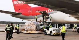 Este cuarto cargamento se suma a más de 190 toneladas recibidas en Venezuela desde la llegada de la pandemia al país suramericano.