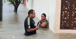Ya se reportan inundaciones y cortes de luz Nuevo León y Tamaulipas, noreste de México.